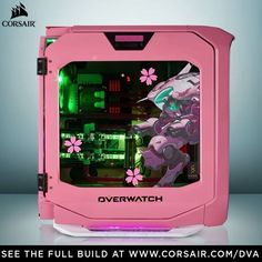 via corsairgaming Need something to love on Valentine's Day? How about this amazing D.Va @PlayOverwatch custom rig. WINKY FACE. 😉 #rigs #casemods