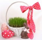 "One Bored Mommy Blogspot: The ""EASTER BUNNY"" Will Be Leaving His Treats In ""REAL GRASS"" This Year...Thanks To Spots And Ladybugs ""Easter Grass Kit""!"