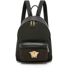 bd0308c58103 Versace Nylon Backpack (5.550 RON) ❤ liked on Polyvore featuring bags
