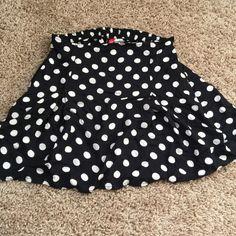 Polka dot skirt Skater skirt H&M Skirts
