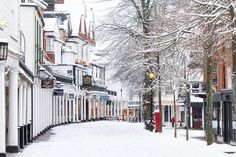 The Pantiles, Royal Tunbridge Wells, England — by Snappy David. January 2013 A blanket of snow covers the historic Pantiles in my home town. With its painted white colonnades and. South East England, Kent England, Beautiful Islands, Beautiful Places, Windsor Palace, White Cliffs Of Dover, Blenheim Palace, Tunbridge Wells, Park Hotel