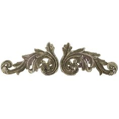 A&B Home Group, Inc 2 Piece Ceramic Acanthus Scrolls Wall Decor Set