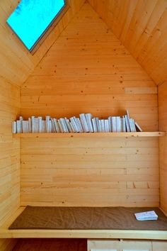 Marta Wengorovius invited 20 guests to choose books for this library designed for one person, creating a collection of 60 volumes.