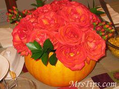 Mrs. Tips: Decorating - Thanksgiving centerpiece