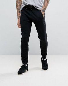 ASOS Skinny Joggers With Zips In Black Conjuntos Deportivos 4951439cebdde