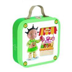 Puzzle Zoe se joaca de-a piata Janod Puzzle, Lunch Box, Puzzles, Riddles, Quizes