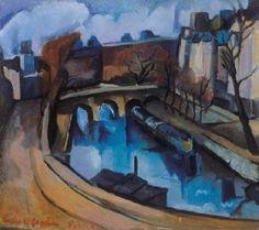 Vilmos Perlrott-Csaba - Szajna-part, 1935 Matisse, City Art, Appreciation, Landscape, Gallery, Paintings, Image, Rivers, Design