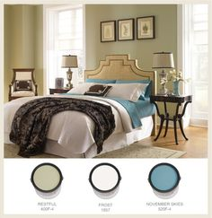 See our gallery of colors that help create a restful atmosphere in your bedroom here on Colorfully BEHR.