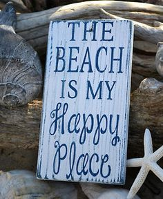 "My ""happy place."" I always feel close to God at the beach. When I look at the vastness of the ocean, I feel small, but not insignificant! Perfect Beach Sign for the Beach House, Coastal Cottage or a Nautical Home! I Need Vitamin Sea, Style Deco, My Pool, Beach Quotes, Ocean Quotes, Surf Quotes, Quotes Quotes, I Love The Beach, Beach Signs"
