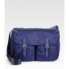 Prada Vela Messenger Bag ($795) ❤ liked on Polyvore