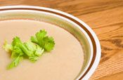 Roasted Celery Root Soup Celeriac, or celery root, is not the ...