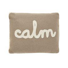 Debenhams Cream 'Calm' cushion- at Debenhams.com