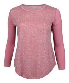 Blush Sheer Scoop Neck Top - Plus