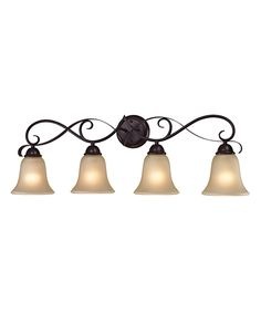 """Oil-Rubbed Bronze Brighton Four-Light Fixture on #zulily. 33""""x11""""   114.99"""