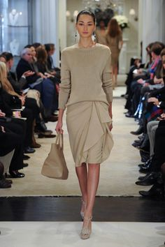 Soft tonal colors from Ralph Lauren Collection Pre-Fall 2014