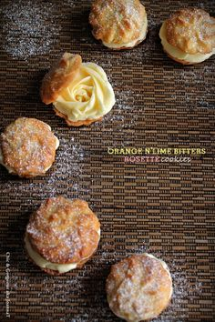 Orange & Lime Bitters Rosette Cookie via Chic & Gorgeous Treats #cookie #lime #recipe