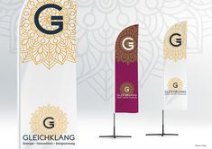 Beach flags design – part of branding project for Gleichklang. Beach Flags, Flag Design, Of Brand, Branding, Projects, Inspiration, Health, Bunting Design, Log Projects
