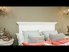 Ken Wingard is turning a door door into a stylish headboard for your bed. He points out that you should use a solid core door. He also recommends going to yo. Home And Family Crafts, Home And Family Hallmark, Hallmark Homes, Furniture Plans, Furniture Makeover, Diy Furniture, Hallmark Channel, Home Design Magazines, Basement Bedrooms