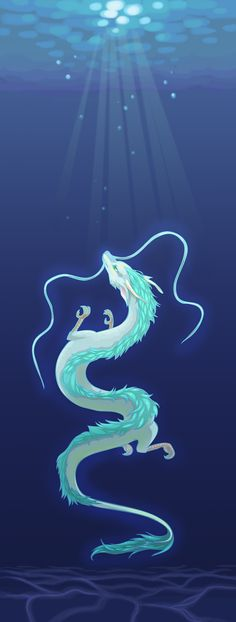 Spirited Away: Kohaku River by graced-for-art.deviantart.com on @DeviantArt