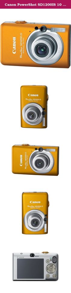 Canon PowerShot SD1200IS 10 MP Digital Camera with 3x Optical Image Stabilized Zoom and 2.5-inch LCD (Orange). When a camera puts a smile on your face the moment you hold it, imagine how great you ll feel when you see your first pictures! The PowerShot SD1200 IS Digital ELPH has everything going for it - exuberant color, the sculptured style of Canon s famed ELPH series - and the innovative know-how that takes you to a whole new level of picture-taking accomplishment. Fun, smart and a…