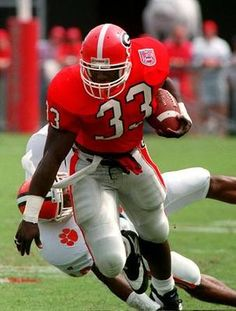 Terrell Davis # 33 Georgia Bulldogs RB - 3 of 3 UGA Super Bowl MVP's. Most of any college team :-)