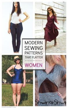 10 Modern Sewing Patterns that Flatter Women - there are some really great ones!
