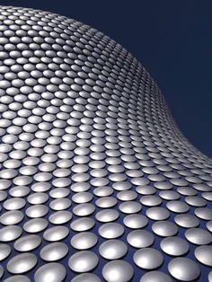 Some of the 15.000 anodized aluminum discs creating the exterior of the Selfridge's Building, Birmingham, UK