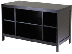 Wood Large TV Stand Media Entertainment Home Decor Storage Organizer Wooden NEW