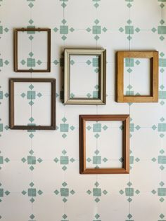 Experiment as to how you want to lay these modern handmade encaustic cement tiles to achieve different stunning effects.