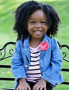 So adorable! To learn how to grow your hair longer click here - http://blackhair.cc/1jSY2ux