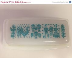 ON SALE Pyrex Amish Butterprint Butter Dish by thetrendykitchen