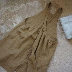 One piece + 1 continuous piece binding Aprons Vintage, Vintage Shirts, Sewing Scarves, Apron Pattern Free, Pinafore Apron, Linen Apron, Sewing Aprons, Apron Designs, Apron Dress