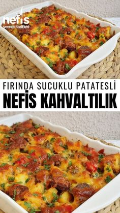 Fırında Sucuklu Patatesli Nefis Kahvaltılık - Nefis Yemek Tarifleri potato al horno asadas fritas recetas diet diet plan diet recipes recipes Yummy Recipes, Vegan Recipes Easy, Baking Recipes, Diet Recipes, Yummy Food, Cake Recipes, Sausage Potatoes, Baked Sausage, Turkish Recipes