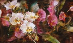 L. Robb - White and Pink Orchids