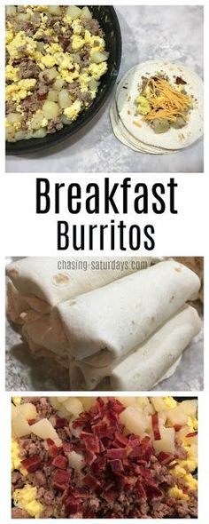 Our mornings during the week are hectic, and kids need something to grab and go on their way to the bus. I catch myself sometimes grabbing . Quick And Easy Breakfast, How To Make Breakfast, Best Breakfast, Sunday Breakfast, Christmas Breakfast, Ground Beef Breakfast, Sausage Breakfast, Brunch Recipes, Breakfast Recipes