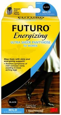 Futuro Ultra Sheer Pantyhose Women, Black, Large French Cut by Futuro. $21.60. From the Manufacturer                                                                view larger       Energizing Ultra Sheer Knee Pantyhose (French Cut & Brief Cut) Futuro Energizing Ultra Sheer Pantyhose for Women provide an empowering boost. If you're constantly in motion, traveling, or working in a hectic office, these Ultra Sheer Pantyhose will help you feel great all day. Our si...