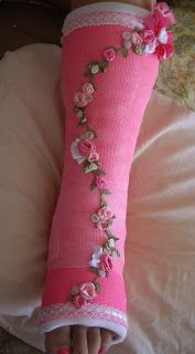 Hello everyone. Cheryl here with my Really Reasonable Ribbon decorated cast for today. Ok most of you know that I& broke. Ankle Cast, Arm Cast, Broken Foot, Cast Art, Walking Boots, Arms, Thing 1, Fancy, My Style