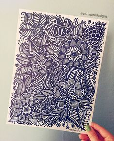 found one of my favorite pieces in a box full of old drawings #zentangle #zenspiredesigns