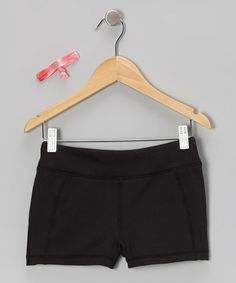 Take a look at this Black Sporty Shorts & Hair Tie by Gracie on #zulily today!