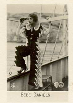 Bebe Daniels and her deco jumpsuit, early 1930s.