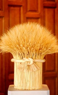 Must figure out a DIY for Thanksgiving... Dried Wheat arrangement