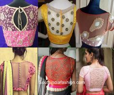 8 Latest Trends in Blouse Designs – South India Fashion Saree Blouse Designs, Blouse Patterns, Saree Jackets, Brocade Blouses, Work Blouse, India Fashion, Woman Clothing, Sleeve Designs, Tango