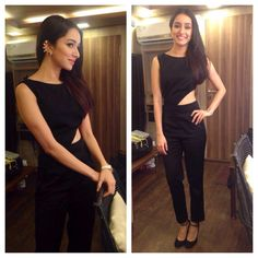 Shraddha Kapoor was the latest in line to join the ear-cuff rage as she arrived for a movie promotion wearing simple yet stunning ear-cuffs by Jhalak. Indian Makeup And Beauty Blog, Indian Beauty, Bollywood Celebrities, Bollywood Fashion, Bollywood Style, Celebrity Outfits, Celebrity Style, Shraddha Kapoor Cute, Sraddha Kapoor