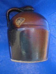 Antique Peoria Pottery Crock Whiskey Jug Dark Brown Glaze Whisky Stoneware Vtg | eBay