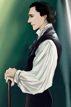 Sir Thomas Sharpe by moliko. (Source: http://cheers-mrhiddleston.tumblr.com/post/128549232736/sigun-i-loki-tom-hiddleston-by-moliko)