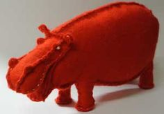 01 How to make stuffed hippopotamus [2] felt