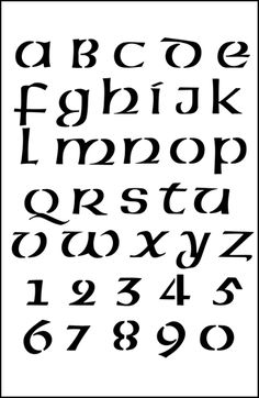 Celtic Alphabet No 2 stencils, stensils and stencles