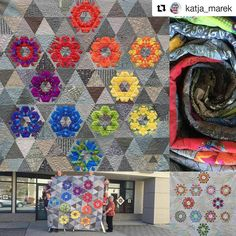Have you seen the 2017 quilt-along project from @katja_marek? Blocks are based on The New Hexagon Perpetual Calendar, available now - get the deets from Katja below to join up. #Repost @katja_marek with @repostapp ・・・ Perpetually Hexie My 2017 Quilt-Along - based on blocks from The New Hexagon Perpetual Calendar Sign-ups now open under the 'Quilt-Alongs' tab of my website (link in profile). Free to anyone who owns a copy of my calendar. The bottom right is an alternate color way made...