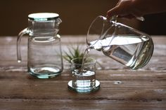 water carafe and drinking glass  $45.00