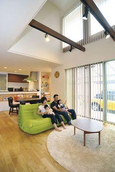 Zen Design Interior, Cozy Sofa, Living Room Tv, Ideal Home, House Plans, Loft, Lounge, House Design, Furniture